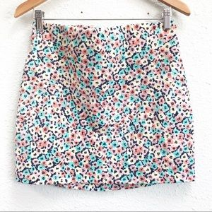 4/$25 BCBGeneration Delicate Floral Mini Skirt L